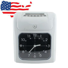 USA Electronic Employee Analogue Time Recorder Time Clock w/ Card Monthly/Weekly