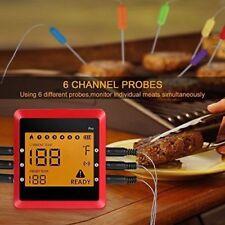 Beats Inkbird IBT-6X Wireless Bluetooth BBQ Thermometer 6 probe Grill meat Steak