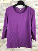 White Stuff Ladies Size 12 Purple Long Sleeve T Shirt Top