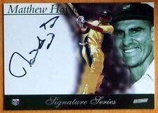 Autographed Matthew Hayden Cricket Trading Cards