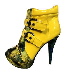 Show Story Women's High Heels Pumps Stilleto 8 39 Yellow Exotic Dancer