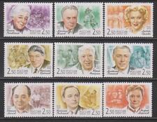 Russia, Actors, 2001, 9 stamps