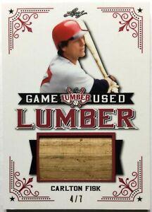 2021 Leaf Lumber #GUL-15 Carlton Fisk Game Used Bat Barrel Patch 4/7