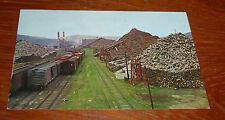 Vintage Pulpwood Piles, Rumford Maine Post Card