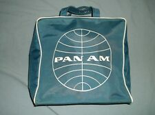 VTG PAN AM hand carry travel bag nylon blue airline tote carry on