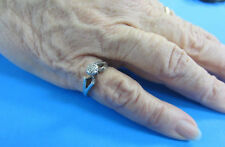 14Kt White Gold Diamond Cluster Ring -- Free Shipping *