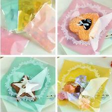 50 X 10cm*10cm galletas de encaje color caramelo bolsas de Auto-Adhesivo Plástico Snack