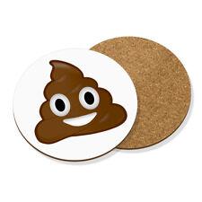 Emoji Cacca Poo Drink Coaster Tappetino in Sughero Round-Divertente Faccina Sorridente Felice Sciocco
