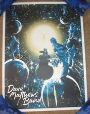 Dave Matthews Band concert gig poster in space Glows Josh Budich Reg