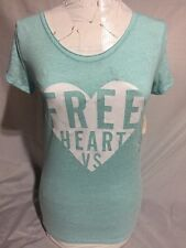 Women's Blue Victoria Secret Free Heart Top Size XS/TP NWT