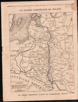 Map Carte Austria Hungary Russia Caricature Guerre Poilus War 1914 ILLUSTRATION