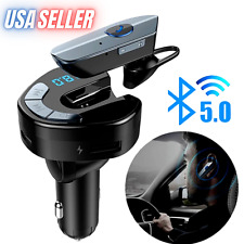 Cargador Para Carro Coche Auto Musica Transmisor Bluetooth con Audifono y FM