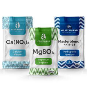 Masterblend 4-18-38 Hydroponic Fertilizer | Complete Hydroponics Nutrients Set