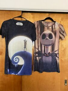 Lot of 2 The Nightmare Before Chrismas Sublimation T-Shirts Size Medium