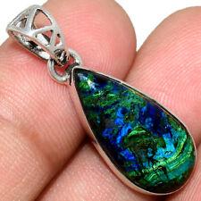 Azurite In Malachite - Morenci Mines 925 Silver Pendant Jewelry AP211561