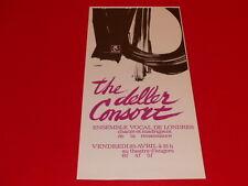 COLL.J. LE BOURHIS AFFICHES / CONCERT THE DELLER CONSORT 1969 ANGERS AMCA