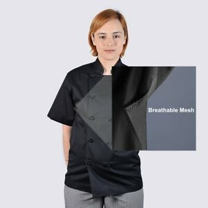 Chef Jackets Cool Breeze - See Handy Chef Ebay store for Chef Pants, Chef Caps,
