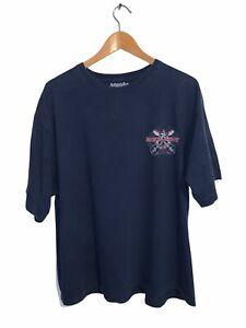 Rockin Stout Navy T-Shirt Short Sleeve St Johns Bay Mens XL Cotton Crew Neck