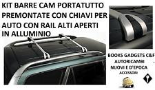 Peugeot 307 Sw (02>08) Kit Barre in Alluminio Premontate C/Chiavi RAIL APERTI
