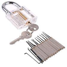 Transparent Lock With Practical Unlocking Tools 15pcs Pick Set Kit Locksmith UK