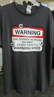 Ammo Gun 2nd Amendment Security T Shirt Size Medium