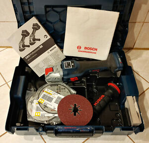 Bosch Professional GWX 18V-15 SC 125mm 18V Akku-Winkelschleifer Zubehör fast neu