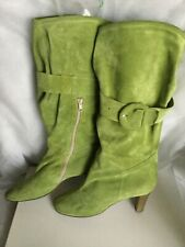 Suede boots Pina Casali Women's, light green color, size 40  Stivali Donna verde