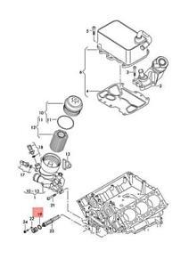 Genuine AUDI VW A4 Avant S4 quattro A5 S5 Cabriolet Oil Cooler 059117015K