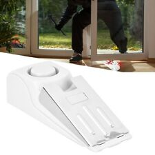 Security Home Wedge Shaped Door Stop Block Alarm Blocking Stopper 120dB White