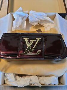 Louis Vuitton Sobe Amarante Vernis Patent Leather Clutch Bag
