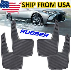 4X Car Mud Flaps 21cm Wide x 36cm Long x 4mm Thick Splash Guards Black Rubber