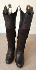 RUSSELL & BROMLEY WOMEN'S BOOTS BROWN SUEDE LEATHER UK SIZE 4 EU 37