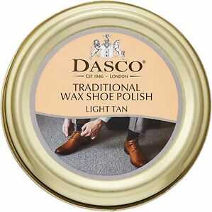 Dasco Traditional Wax Shoe Polish Boot Polish Light Tan