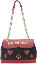 NEWT AUTH LOVE MOSCHINO JC4145PP17LV100A GENUINE  LEATHER CROSSOVER BAG