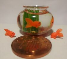 1:12 Dolls House Miniature  Fish Bowl & 3 Goldfish loose fish not included