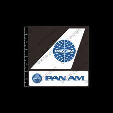 Pan American World Airways Logo Sticker (Size 9 cm x 9 cm)
