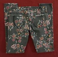 1st Kiss Floral Patterned Skinny Stretch Jeans womens juniors size 1