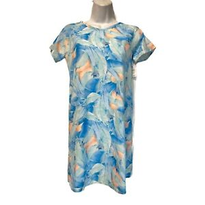 Zella Girls Size 14/16 Short Sleeve 1192QL Feather Print Activewear Tennis Dress