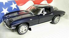 Ertl 1/18 Scale - 7321 1963 Corvette Stingray C1 Dark Blue Diecast model car