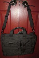 Tumi Black Nylon Expandable Organizer Computer Brief Laptop Bag