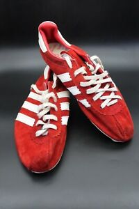 VINTAGE ADIDAS SPUTNIK 1980's RED RUNNING SHOES SNEAKERS RETRO USSR
