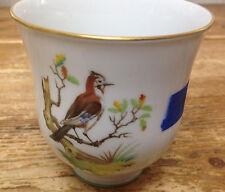 Tumbler Cup Mug Eurasian Jay Bird H&Co Heinrich Hand Painted Old Chiemsee German
