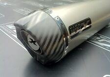 Honda CBR 900 Fireblade 1996 - 1999 Titanium Round, Carbon Outlet Exhaust Can