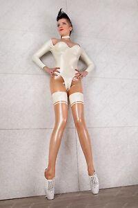 523 Latex Rubber Gummi Catsuit bodysuit costume cups suit customized 0.4mm sexy