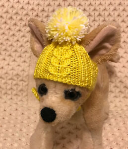 Pet Clothes Apparel Outfit Hand-Knit Pom Pom Hat for Small Dog XXS XS S M