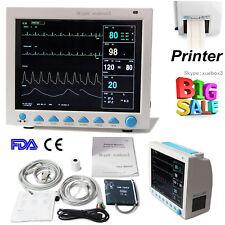 Portable Vital Signs Patient Monitor 6 Parameters + Printer ICU CCU Monitor,Sale
