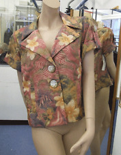 Joseph Ribkoff 10 BNWT Hermoso Rosa Pastel & cálida chaqueta corta Yelow nos superior 8