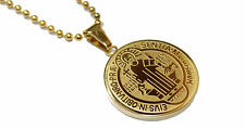 San Benito Stainless Steel Gold Pendant with 22 inch Chain- Enchape de Oro