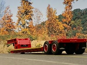 1/64 DCP RED RODGERS LOWBOY TRAILER
