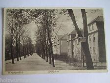 seltene alte AK Trachenberg Niederschlesien Schulstraße gelaufen 1929